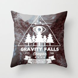 Visit Gravity Falls Throw Pillow