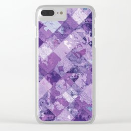 Abstract Geometric Background #30 Clear iPhone Case