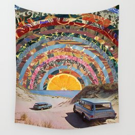 Orange sunset Wall Tapestry