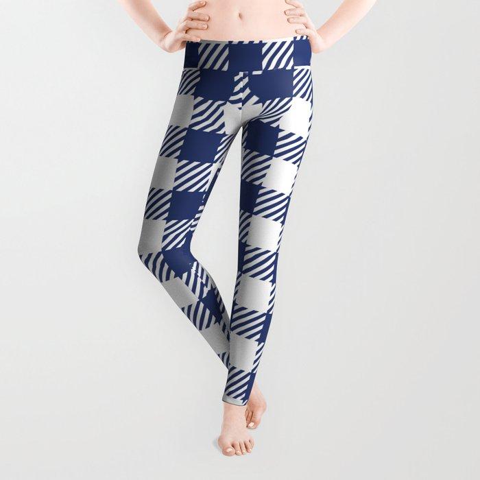 Blue Vichy Leggings