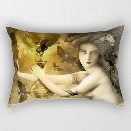 The Blessed Temperance, Gold Rectangular Pillow