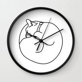 Sleeping Cat Wall Clock