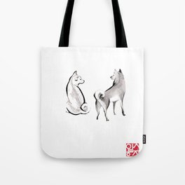 Two Shiba Inu Couple Tote Bag