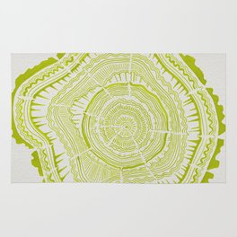 Lime Tree Rings Rug
