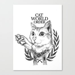 Cat World Order Canvas Print