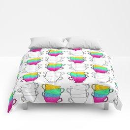 Tea Cup Pattern Comforters