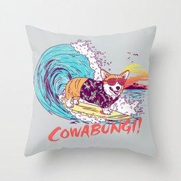 Cowabungi! Throw Pillow