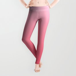 Ombre Pink Rose Gradient Pattern Leggings