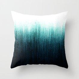 Teal Ombré Throw Pillow