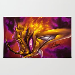 Yellow On Fire Rug