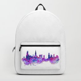 Chicago Watercolor Skyline 2 Backpack