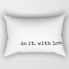 Do i. With Love. Typewriter Style Rectangular Pillow