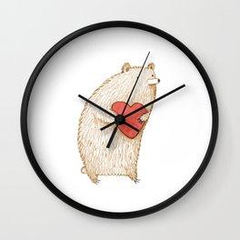Bear with Heart Wall Clock