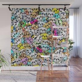 Gemstone Pugs Dogs Wall Mural