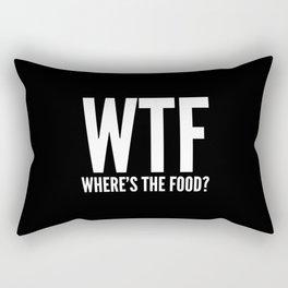 WTF Where's The Food (Black & White) Rectangular Pillow