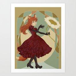 Flower.Fox Art Print