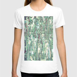 Abstract green T-shirt