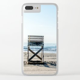 While the Lifeguards Away Clear iPhone Case