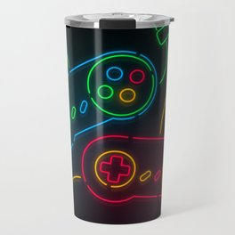 Neon Nostalgia Travel Mug