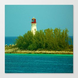 Lighthouse by the Ocean Canvas Print