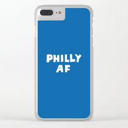 Philly AF (Blue) Clear iPhone Case