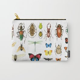 The Usual Suspects - insects on white Carry-All Pouch