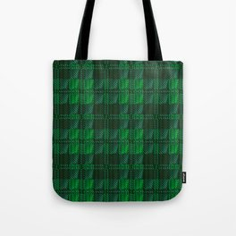 Dark Green Tartan Tote Bag