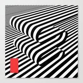 3D Lines Canvas Print
