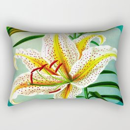 White Lily Rectangular Pillow