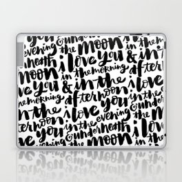I love you in the morning Laptop & iPad Skin