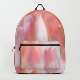 Pink Tulips Abstract Nature Spring Atmosphere Backpack