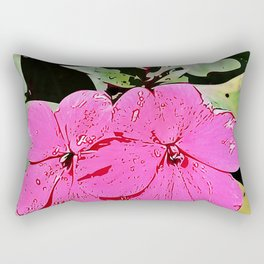 pink Impatiens - flower Rectangular Pillow