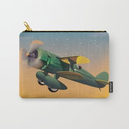 Learn To Fly, vintage flight travel poster Carry-All Pouch