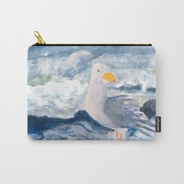 A Watercolor Seagull Named Fred (on Second Cliff in Scituate) Carry-All Pouch