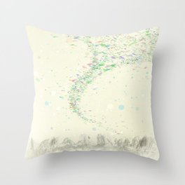Confetti in the wind Throw Pillow