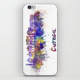 Cuenca skyline in watercolor iPhone Skin