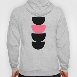 Crescents (Black and Pink) Hoody