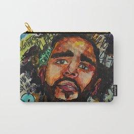 J cole,kod,album,music,rap,cole world,hiphop,rapper,masculine,cool,fan art,wall art,portrait,paint Carry-All Pouch