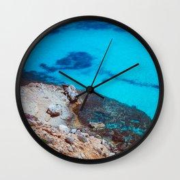 The blue lagoon Wall Clock
