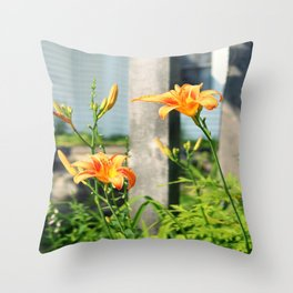 Growing Lilys Throw Pillow