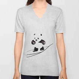 Surfing Panda Unisex V-Neck