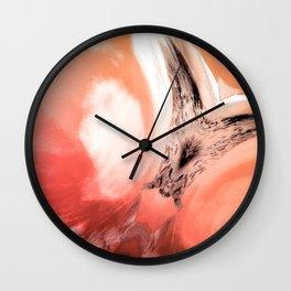 Rosa Rugosa Abstract Wall Clock