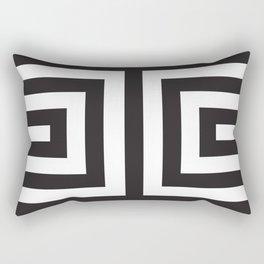 Black Greek Stripes Rectangular Pillow
