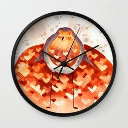 Robin and Love Wall Clock