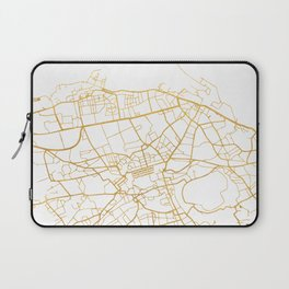 EDINBURGH SCOTLAND CITY STREET MAP ART Laptop Sleeve