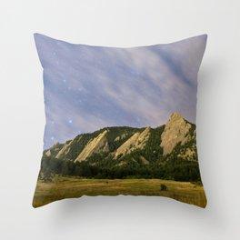 Starry Flatirons Throw Pillow