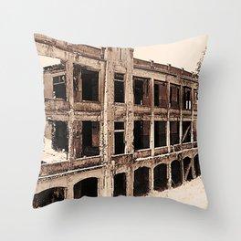 Mile-Long Barracks Throw Pillow