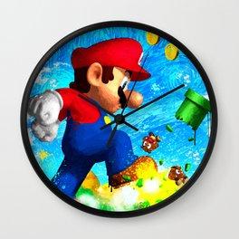 Super Mario Van Gogh style Wall Clock