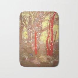 "Odilon Redon ""The Red Trees"" Bath Mat"