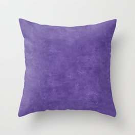 Ultra Violet Oil Pastel Color Accent Throw Pillow